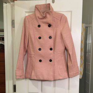 Blush colored Forever 21 Peacoat